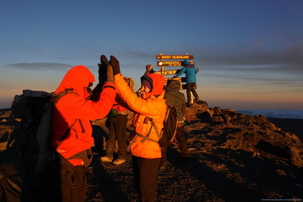 On the top of the Mount Kilimanjaro